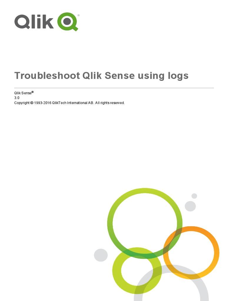 Troubleshoot Qlik Sense Using Logs   Qr Code   Proxy Server