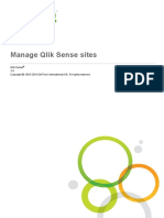 Manage Qlik Sense Sites