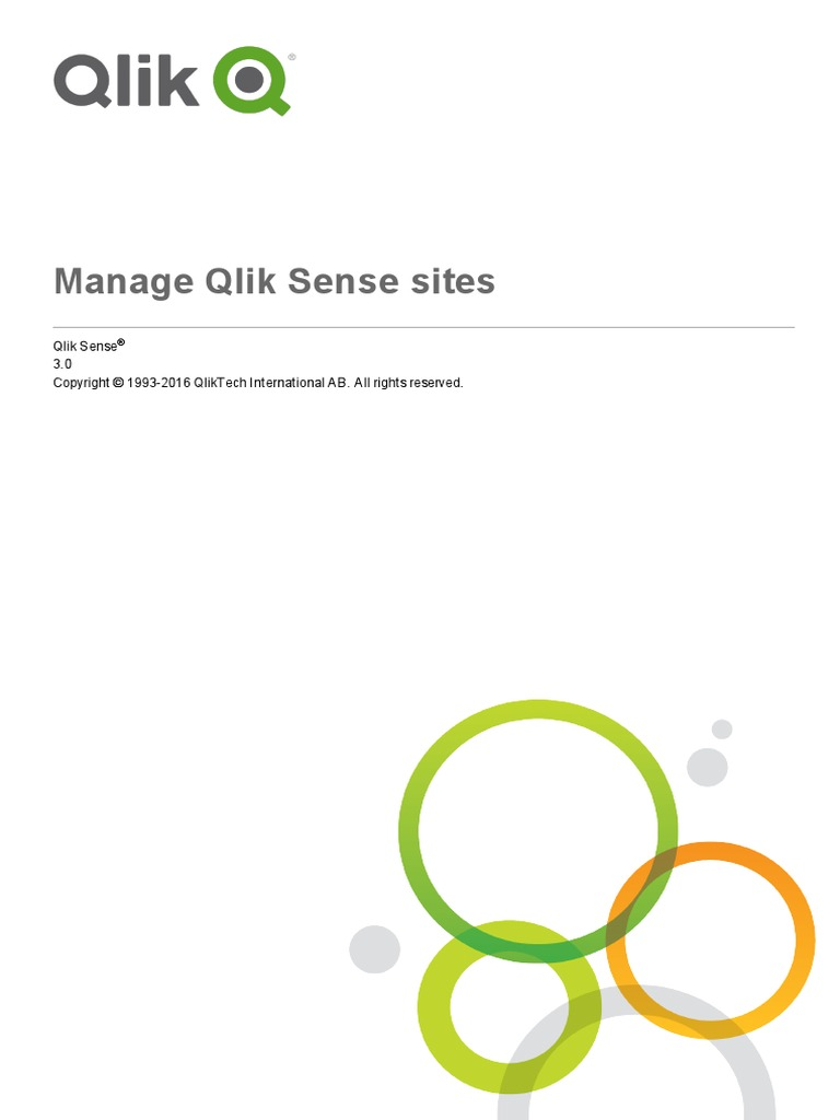 Manage Qlik Sense Sites | Proxy Server | Login