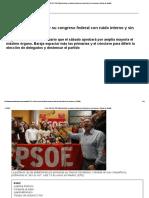 Crisis PSOE_ El PSOE Fija La Fecha de Su Congreso Federal Con Ruido Interno y Sin Consenso