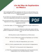 La Importancia Del Mes de Septiembre en México_mixta 49