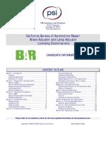 Brake LampExam Handbook