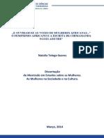 O Feminismo Africano. Natalia Telega. 2014