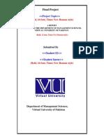 VU Final Project Format