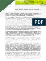 CBDMT - Intelligence Economique - Analyse du marché du traitement de l'oeil sec - 4 mai 2010