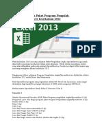 Materi Pelajaran Paket Program Pengolah Angka