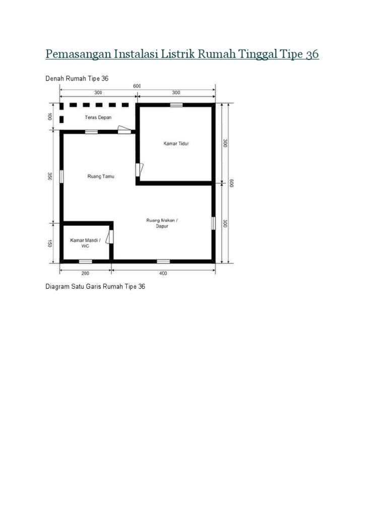Dokumeninstalasi listrik rumah tinggal tipe 36cx ccuart Images