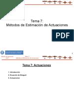 Tema 7 Métodos de Estimación de Actuaciones
