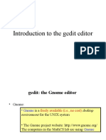 Introduction to the Gedit Editor