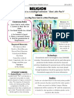 religion course information