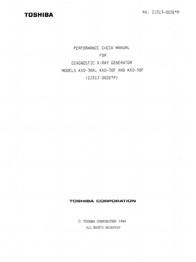 manual toshiba kxo 15r