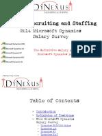 2014 Microsoft Dynamics Salary Survey