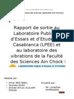 Rapport de Sortie Au LPEE Et Au Laboratoire de Vibrations_Casablanca