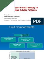 IV Fluids in Hospitalised Pt