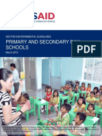 USAID Sector Guideline Schools 2013