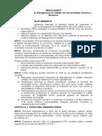 Regulament privind sistemul calitatii