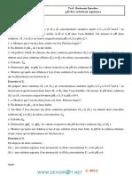 Série Corrigée N°7- Chimie Série pH des solutions aqueuses - Bac Mathématiques (2013-2014) Mr BARHOUMI Ezzedine