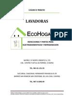 Catalogo Lavadoras Ecohogar