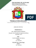 TRABAJO ENCARGADO - ANALISIS CRITICO INGENIERIA DE COSTOS.docx