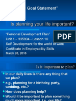 Personal Development Plan u 1 l 10