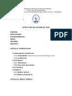 Estructura de informe de tesis