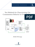 9 10 Test Methods for Characterising Ore