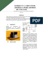 Laboratorio Nº 1 Circuitos Enclavadores y Dobladores de Voltaje