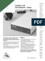 HLINKCC Dataline Communication Link for Complete Control Networks Setup