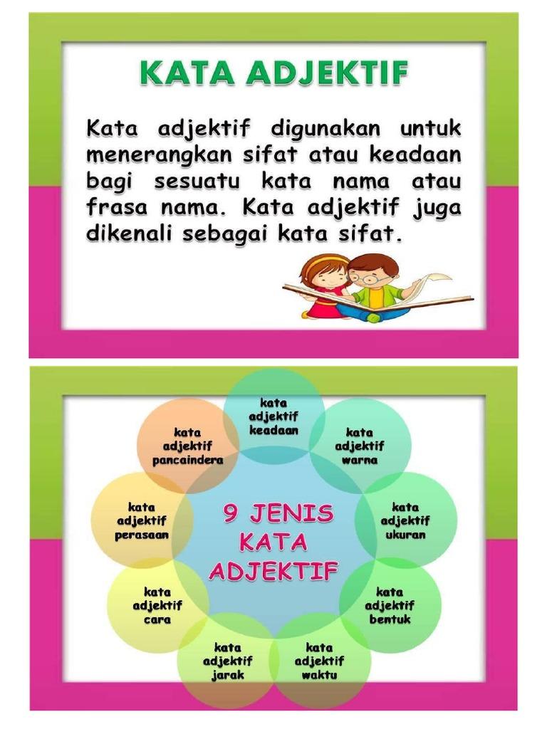 Kata Adjektif Tahun 4 Lessons Tes Teach