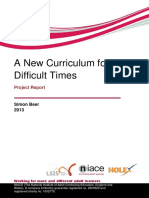 A New Curriculumn for Difficult Times