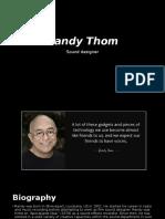Sound Designer - Randy Thom