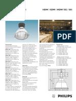 Luminaria Industrial HDW SDW MDW 502 Philips