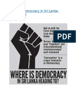 Where is democracy in Sri Lanka heading to.docx
