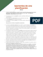 Componentes de Una Planificación