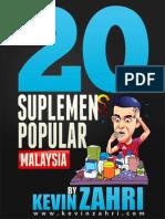 20 Panduan Suplemen Popular Malaysia