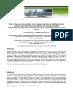 Blocos de Concreto Armdao Sobre Duas Estacas Com Cálice Externo_estudo Experimental Com Modelos Em Escala Reduzida
