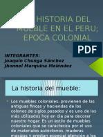 La Historia Del Mueble en El Peru