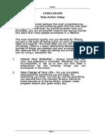 Goal Summary for Training Leaders