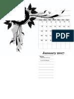 2017 Monthly Calendar Design Template 05