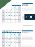 2017 Monthly Calendar Landscape 04