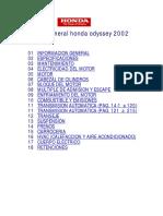 Manual de Taller Honda Odyssey