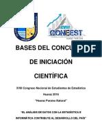 Bases Del Concurso de Iniciacion Cientifica 2016