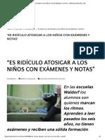 """""""Es Ridículo Atosigar a Los Niños Con Exámenes y Notas"""" – Web Del Maestro Cmf"""