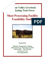 Meat Facility Feasability Study