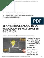 El Aprendizaje Basado en La Resolución de Problemas