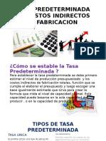 Tasa Predeterminada de Costos Indirectos de Fabricacion