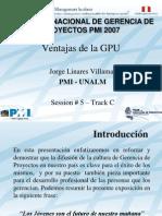 GPU PMI Peru Congreso 2007