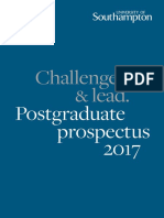 University of Southampton Postgraduate Prospectus 2017