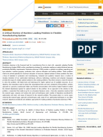 A Critical Review of Machine Loading Problem in Flexible Manufacturing System