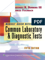 Nurse's Quick Reference to Common Laboratory & Diagnostic Tests 5E